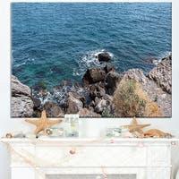 Blue Waters at Crimean Peninsula Beach - Contemporary Seascape Art Canvas