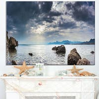 Black Seas in Crimean Peninsula Panorama - Contemporary Seascape Art Canvas