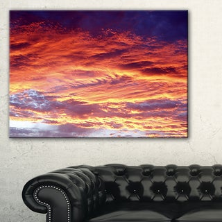 Colorful Sunset Skies with Clouds - Extra Large Wall Art Landscape