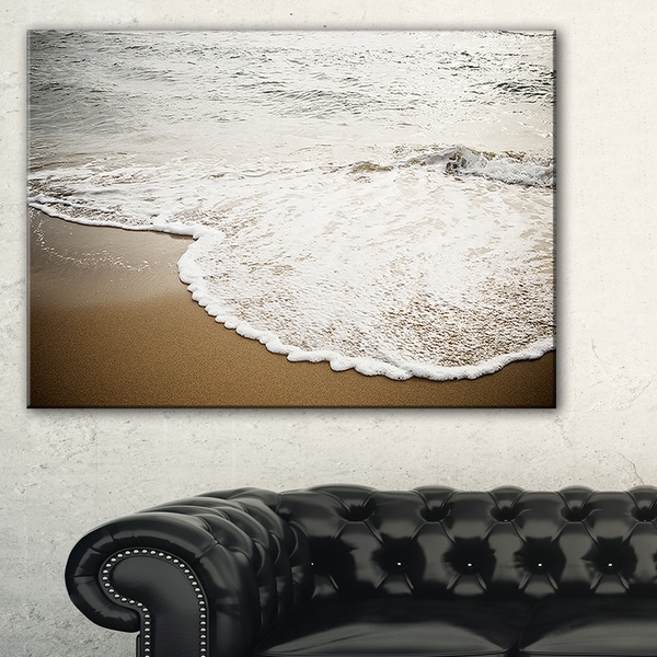 Close-up Waves in Mediterranean Sea - Contemporary Seascape Art Canvas