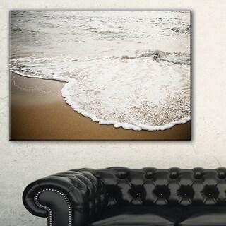 Close-up Waves in Mediterranean Sea - Contemporary Seascape Art Canvas