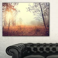Beautiful Natural Landscape with Trees - Extra Large Wall Art Landscape - Green