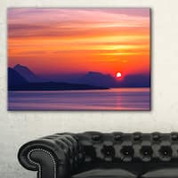Stunning Sunset in Greece - Extra Large Seascape Art Canvas