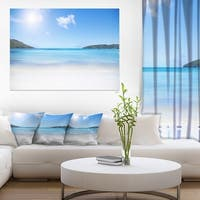 Calm Beach of Azure Indian Ocean - Contemporary Seascape Art Canvas