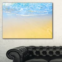 Smooth Sea Surf over Blue Waters - Contemporary Seascape Art Canvas