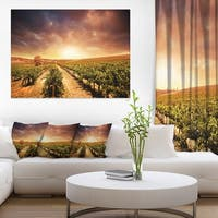 Vineyard with Stormy Sunset - Extra Large Wall Art Landscape