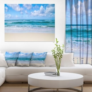 Serene Blue Tropical Beach - Large Seashore Canvas Print