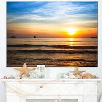 Fascinating Sunset Over Clam Beach - Modern Beach Canvas Art Print
