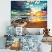 Beautiful Cloudscape over the Sea - Modern Beach Canvas Art Print