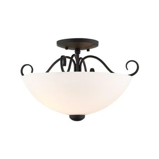 Livex Lighting Heritage 2-light Black Ceiling Mount Light
