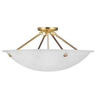 Livex Lighting Oasis 4-light Polished Brass Ceiling-mounted Light Fixture