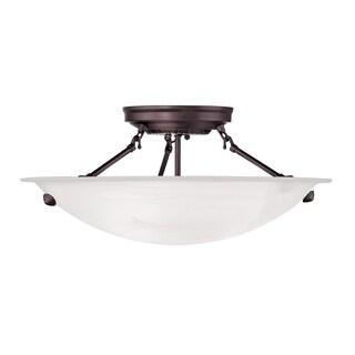 Livex Lighting Oasis 3-light Bronze Ceiling Mount
