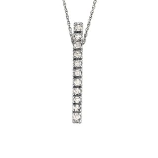 14k Gold 1/6ct TDW Diamond Vertical Bar Necklace (G-H, SI1-SI2)
