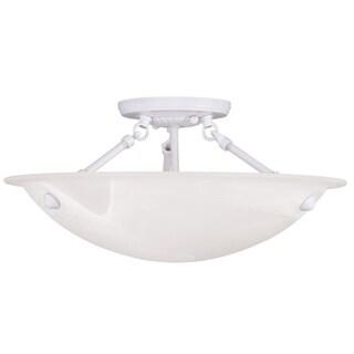 Livex Lighting Oasis 3-light White Ceiling Mount