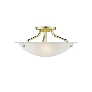 Livex Lighting Oasis 3-Light Polished Brass Ceiling Mount - Polished brass