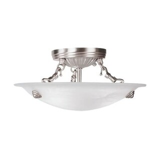 Livex Lighting Oasis 3-light Brushed Nickel Ceiling Mount