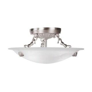 Livex Lighting Oasis 3-light Brushed Nickel Ceiling Mount