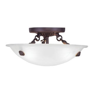 Livex Lighting Oasis Bronze Ceiling Mount 3-light Fixture