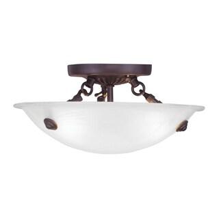 Livex Lighting Oasis Bronze Ceiling Mount 3-light Fixture
