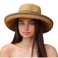 Palms & Sand Women's Tan Beach UV-protected UPF 50+ Sun Hat