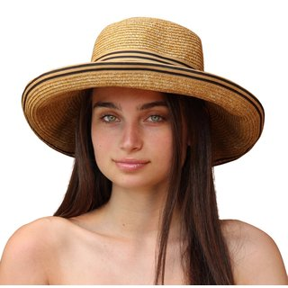 Palms & Sand Women's Tan Beach UV-protected UPF 50+ Sun Hat