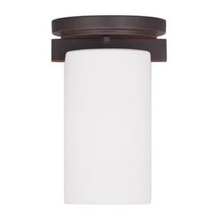 Livex Lighting North Port Black 2-light Ceiling-mount Light