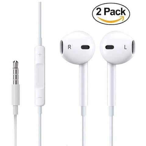 Set of 2 Apple EarPods with 3.5 mm Headphone Plug for iPhone - iPad - iPod Touch