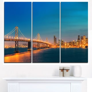 Illuminated San Francisco Skyline - Cityscape Canvas print
