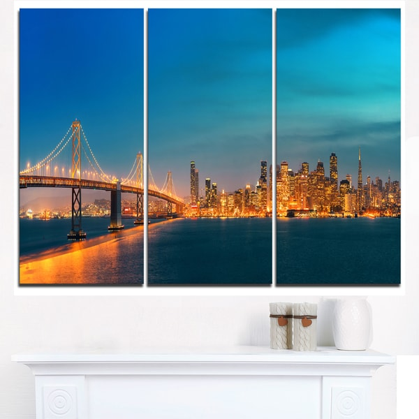 San Francisco Skyline at Night  - Cityscape Canvas print