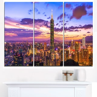 City of Taipei at Sunset - Cityscape Canvas print