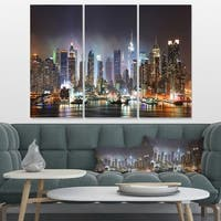 New York City Skyscrapers in Blue Shade - Cityscape Canvas print