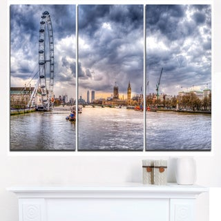 London Skyline and River Thames - Cityscape Canvas print