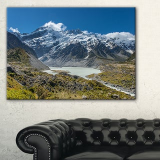 Green and White Mountains New Zealand - Landscape Art Print Canvas