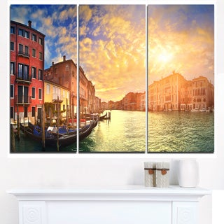 Majestic Sunset over Venice - Cityscape Artwork Canvas
