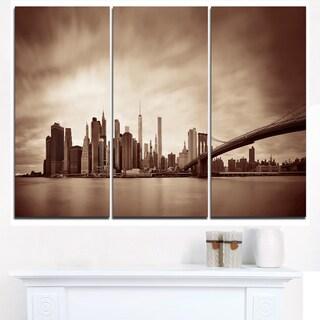Manhattan Financial District - Cityscape Canvas print
