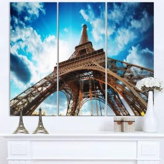 Beautiful Paris Eiffel Tower under Blue Sky - Cityscape Canvas print