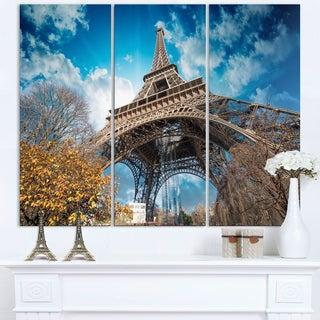 Paris Eiffel Tower and Blue Paris Sky View - Cityscape Canvas print