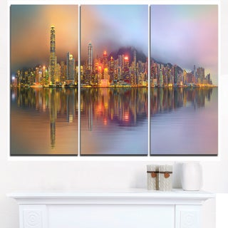 Singapore Financial District Island - Cityscape Canvas print