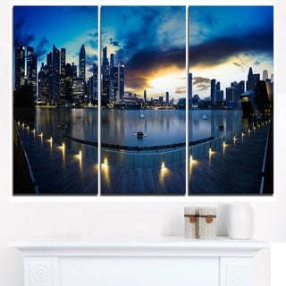 View from Marina Bay Sands Panorama - Cityscape Canvas print