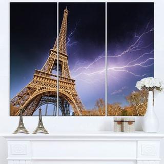 Beautiful View of Paris Eiffel Tower under Purple Sky - Cityscape Canvas print
