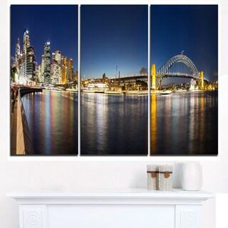 Cityscape Sydney Nightfall Panorama - Cityscape Canvas print
