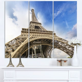 Fantastic View of Paris Eiffel Tower from Ground - Cityscape Canvas print