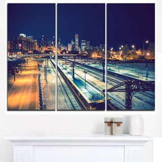 Welcome in Chicago Highway Traffic - Cityscape Canvas print