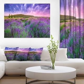 Summer Lavender Field in Tihany - Modern Landscape Wall Art Canvas