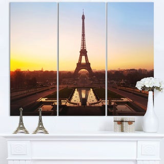 Brown Silhouette of Paris Eiffel Tower - Cityscape Canvas print