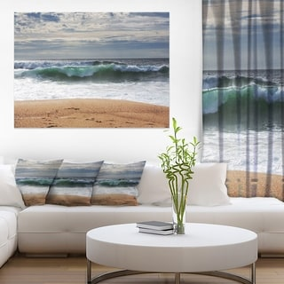 Large Blue Waves and Blue Sky - Large Seashore Canvas Print