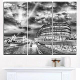 London Night Cityscape around Southwark - Cityscape Canvas print