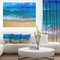 Floating Blue Waves Beach - Large Seashore Canvas Print