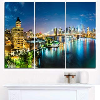Colorful New York City Panoramic View - Cityscape Canvas print