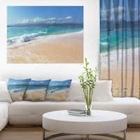 Large Blue Beach in Gili Island - Large Seashore Canvas Print